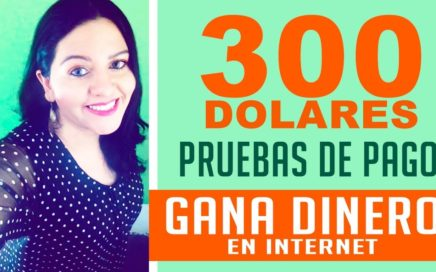 PRUEBAS DE PAGO DE PAGINAS PARA GANAR DINERO EN INTERNET 300 DOLARES