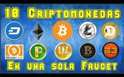 Reclama 10 Criptomonedas en una misma Faucet | FREEBITCOIN.WIN 2017 | Serie: Criptomonedas #7