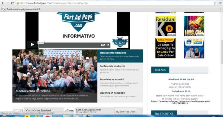 Seguimiento Cuenta Fap 2º Semana Ganar Dinero Online 2016