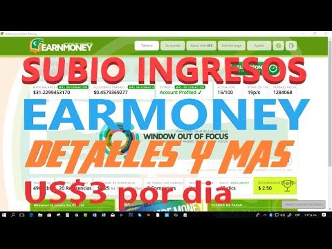 Subio ingresos en earmoney tips y mas paginas para ganar extras
