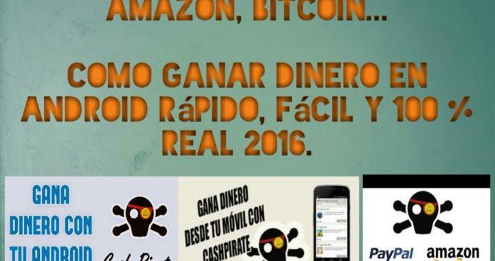 Super  aplicación para ganar dinero rápido, fácil  y muy buena.Disponible para todos los paises 2016