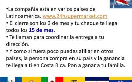 SuperMarket 24h Costa Rica, Quieres ganar dinero rapido,NovaVita Club