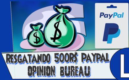 Survey Ganhar dinheiro Paypal Realizando Saque 500 R$ Ao Vivo { Opinion Bureau }