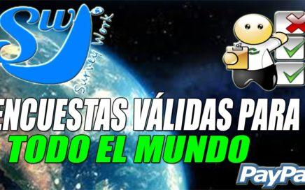 Survey Work Gana Dinero Gratis a Paypal con Encuestas Remuneradas, Tareas y Bono Diario