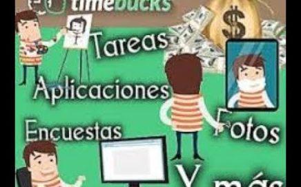 TimeBucks La Mejor Pagina Para Ganar Dinero!!! Online /Paypal/Payza/ 10$ A la Semana!!!!