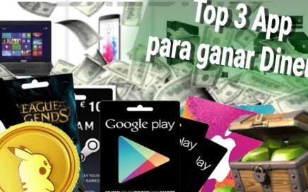 TOP 3 MEJORES APLICACIONES PARA GANAR DINERO PAYPAL DESDE ANDROID || GRATIS || 2017