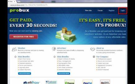 Truco para ganar dinero, dinero real, dinero facil, probux la mejor PTC, prueba de pago.