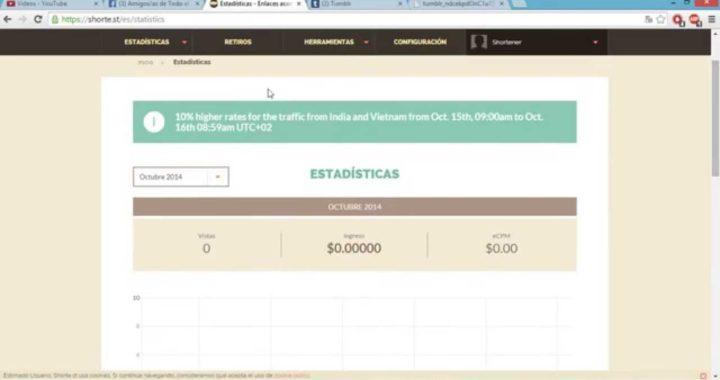 TRUCOS Y TIPS PARA GANAR DINERO EN INTERNET -Acortador de Link Shorter-