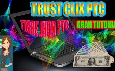 TrustClix Que es y como Funciona? | Trust clix 2017 Trucos para ganar Dinero y Bitcoin | PTC Paga