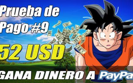 Una de las Mejores Páginas Gratuitas para Ganar Dinero a Paypal, Pago de 52$ | Gokustian