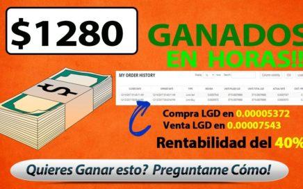 $1280 Dolares Ganados en HORAS - COMO GANAR DINERO POR INTERNET - CRIPTOMONEDAS SEÑALES GRATIS