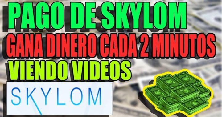 PAGO DE SKYLOM! GANAR DINERO CADA 2 MINUTOS VIENDO VIDEOS!