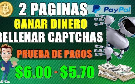 2 PAGINAS PARA Ganar Dinero Resolviendo Captchas ( + PRUEBAS DE PAGOS ) $6.00 Dolares