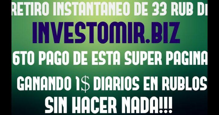 6TO PAGO DE ESTA INCREIBLE PAGINA - RETIRO EN VIVO - GANANDO 1$ DIARIO SIN HACER NADA.  YA NO PAGA!!