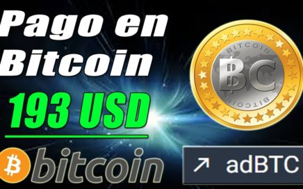 adBTC Paga 193 USD en Bitcoin | Cómo Ganar Bitcoin Gratis desde Casa | Gokustian