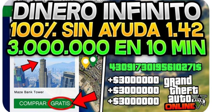 "¡BESTIAL!  DINERO INFINITO SIN AYUDA!! 3.000.000$/10 MIN ""TRUCAZO BESTIAL"" (GTA 5 ONLINE 1.42)"