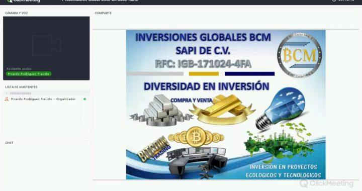 BIT CASH MINE INVERSIONES GLOBALES  BCM