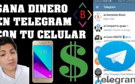BLOUNI FUNCIONA GANA DINERO EN TELEGRAM CON TU CELULAR