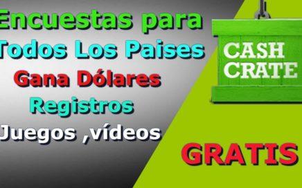 Cashcrate Encuestas Para Todos Los Países|Explicación En Español Gana Dolares Juegos y Videos ETC|