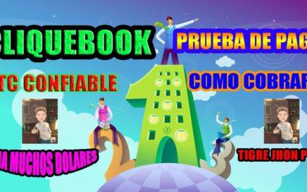 Cliquebook 2018 Importantes Noticias y Como cobrar pagos? | Cliquebook Comprobante de Pago