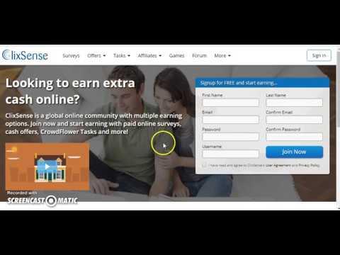 Clixsense Gana dinero completando Encuestas y Tareas
