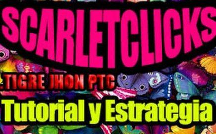 Como Empezar en Scarlet-Clicks? PTC que paga por Paypal y Payza | Scarlet Clicks Tutorial,Estrategia