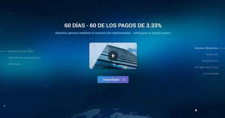 |COMO GANAR DINERO DESDE CASA!! Elizion Plataforma de Inversion AutomacaQue Te Hace 60