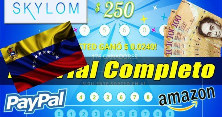 COMO GANAR DINERO EN POR INTERNET EN VENEZUELA CON SKYLOM 100% EFECTIVO , GO GO GO GO ..