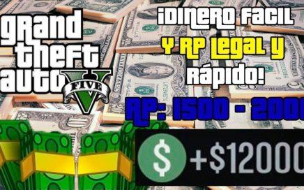 Como ganar dinero legalmente y rapido en ps4 Gta5 online!