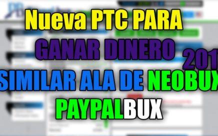 Como Ganar dinero /ViendoAnuncios/En/PayPal Bux/ New /PTC/ 2017