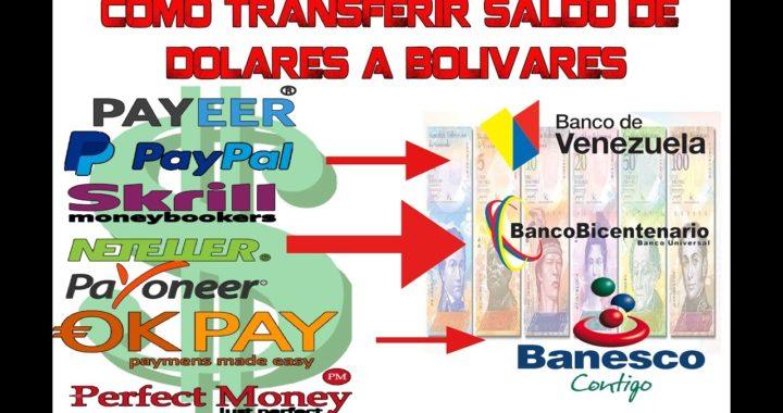 Como transferir saldo de PAYPAL,NETELLER, PAYONEER a una CUENTA BANCARIA EN VENEZUELA y AGENTINA