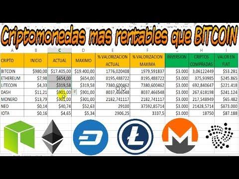CRIPTOMONEDAS más rentables que BITCOIN en dinero FIAT