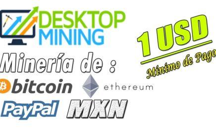 Desktop Mining Nueva Página de Minería | Minimo de Pago 1$ | Gokustian