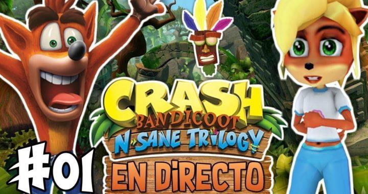 ESTAS ABURRIDO EN CASA !!! PUES ENTRA AL DIRECTO LO PASAREMOS BIEN CON CRAH BANDICOOT PS4