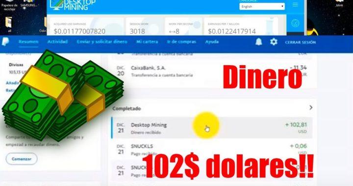 Gana 102 Dolares De 2-3 Semanas A Paypal O Bitcoin + Prueba De Pagó
