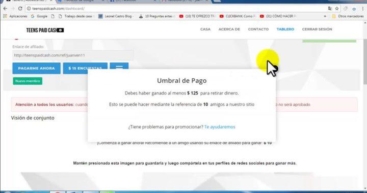 GANA DINERO A PAYPAL /  $25 GRATIS POR REGISTRO / $10 POR CADA REFERIDO