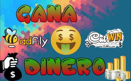 GANA DINERO!!! ACORTANDO Y COMPARTIENDO LINKS!!! | Adfly y Cut Win | Fácil y Rápido | #2