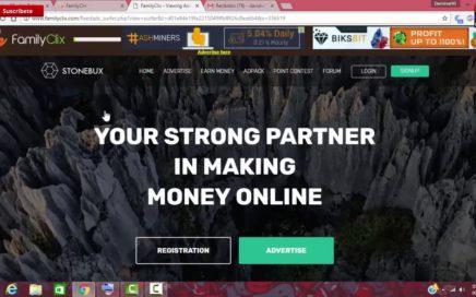 Gana dinero con FamilyClix | Ptc minimo de cobro 2dlls | 2018