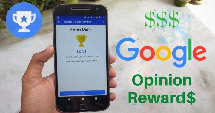 Gana dinero con google opinion rewards
