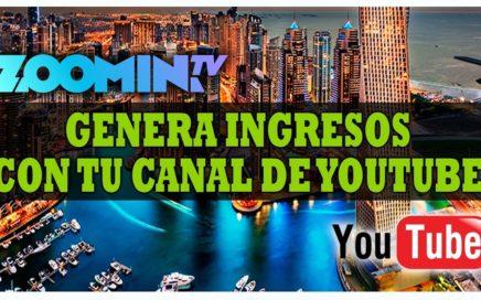 Gana Dinero con Youtube & Zoomin.TV   Pago de $33,30 USD   Como Manejar tu Dashboard de Zoomin.TV