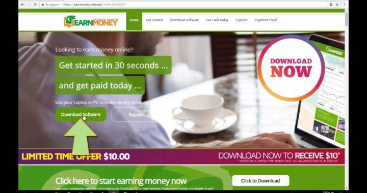 Gana Dinero en Piloto Automático y 10$ Gratis EN Earn Money Network