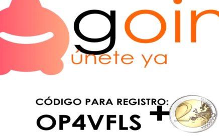 GANA DINERO GRATIS RETIRABLE POR INTERNET 2€ - Goin.one App Android/iOs