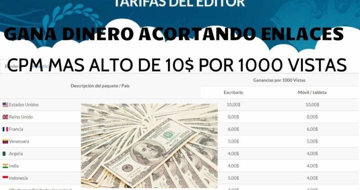 GANA DINERO POR INTERNET CON EL MEJOR ACORTADOR DE ENLACES CPM 10$