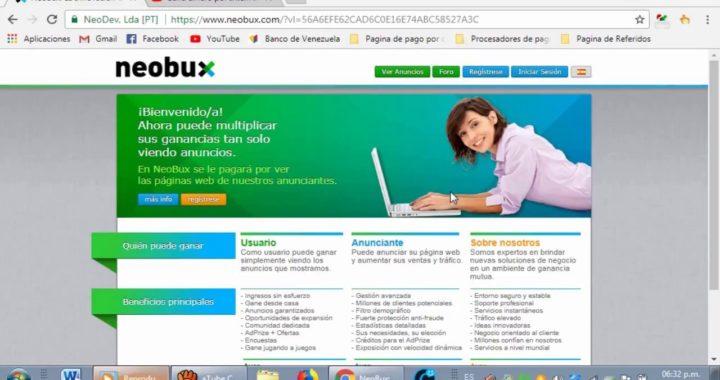 Gana dinero por Internet con Neobux