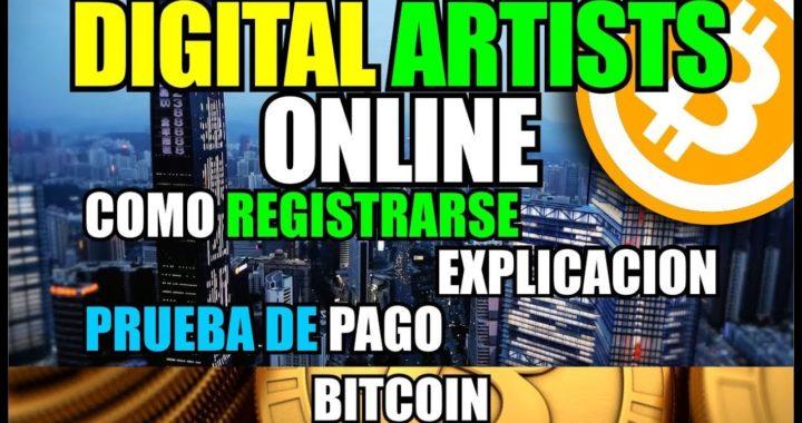 Ganar 20.000 satoshis con Digital Artists Online | Como registrarse | explicacion | Pruebas de pago