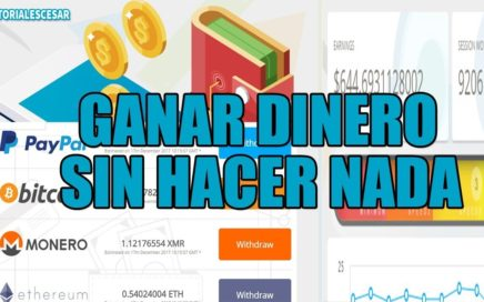GANAR DINERO SIN HACER NADA DESDE TU PC | 100 DOLARES EN MENOS DE UNA SEMANA | ENTRA AQUI