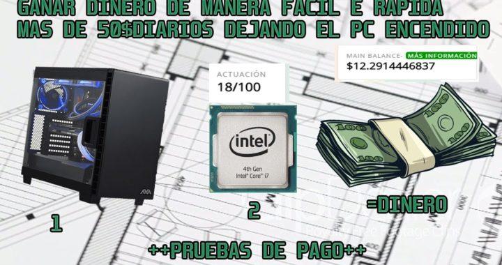 Ganar Mas de 50$ Dólares gratis a PayPal,Bitcoin,Payza en 1 dia Teniendo el pc encendido!!+pruebas
