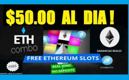 GANÉ $50.00 DÓLARES EN 1 DIA ETHEREUM COMBO - EL NEGOCIO DEL MOMENTO!!