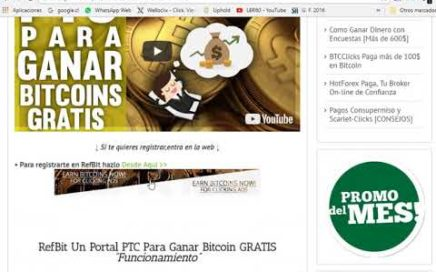 Genera Bitcoin gratis desde casa sin invertir y de forma fácil gana dolares con refbit en tu hogar
