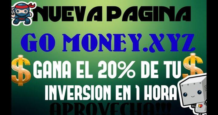 GO MONEY.XYZ - GANE EL 20% DE SU INVERSION CADA HORA+COMPROBANTE - APROVECHA!!